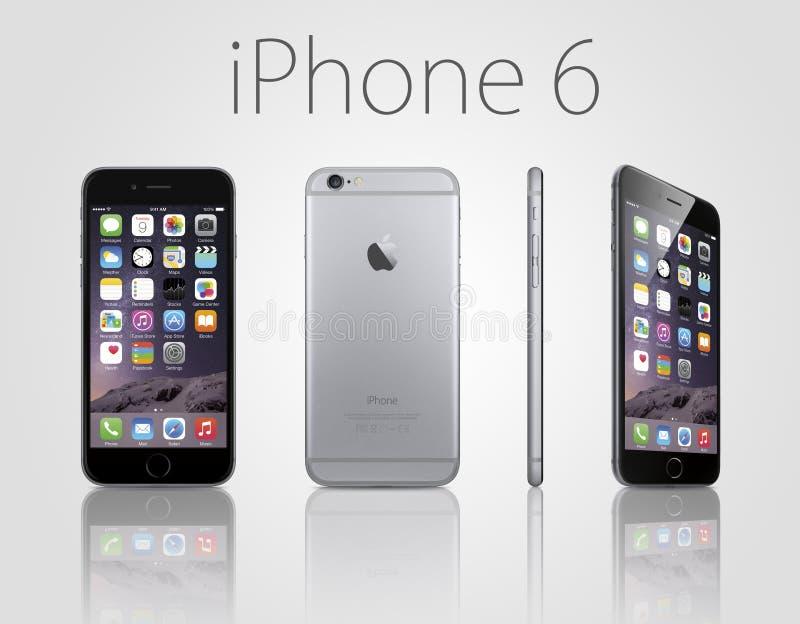 正新的iphone 6 向量例证