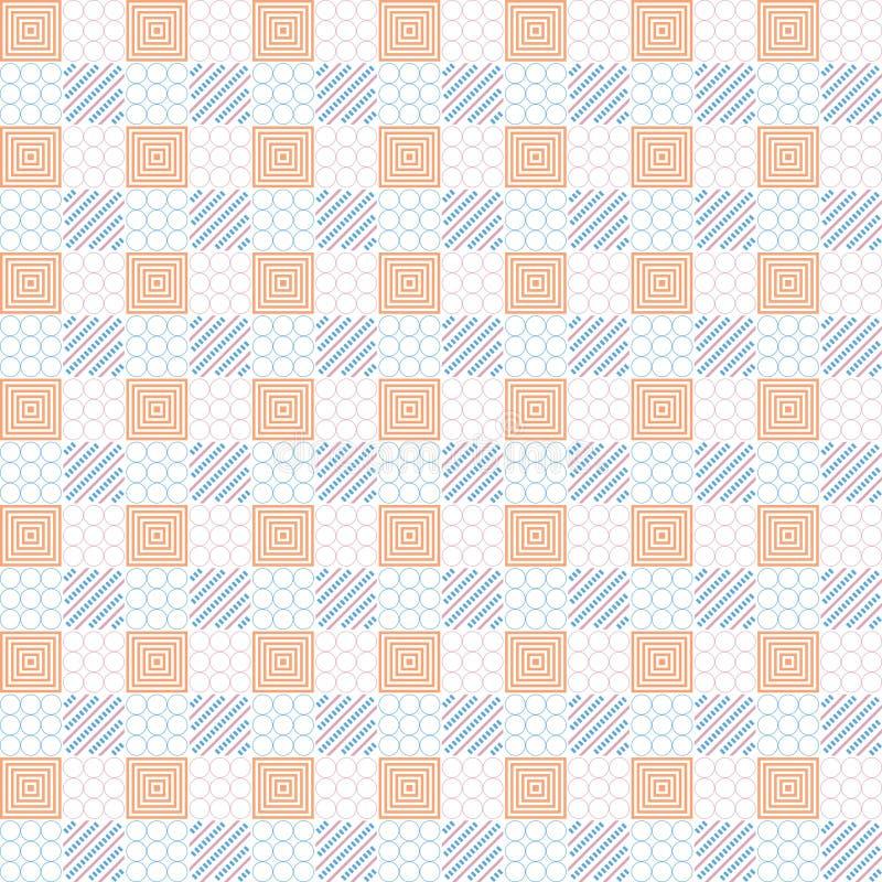 正方形几何与圈子、线和箱子 向量例证