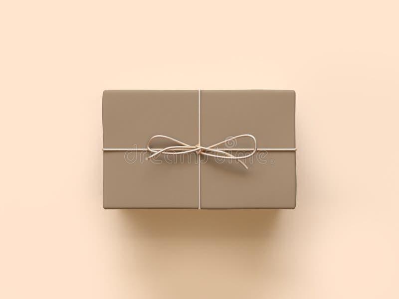 正方形包装纸礼物盒3d翻译 皇族释放例证