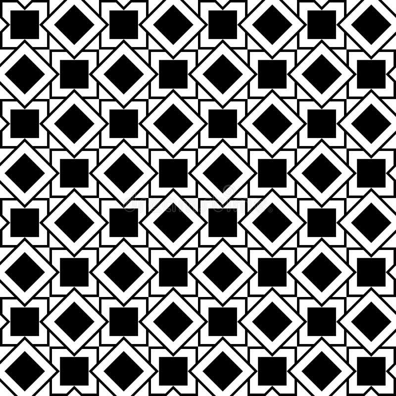 正方形和菱形的无缝的几何样式 皇族释放例证