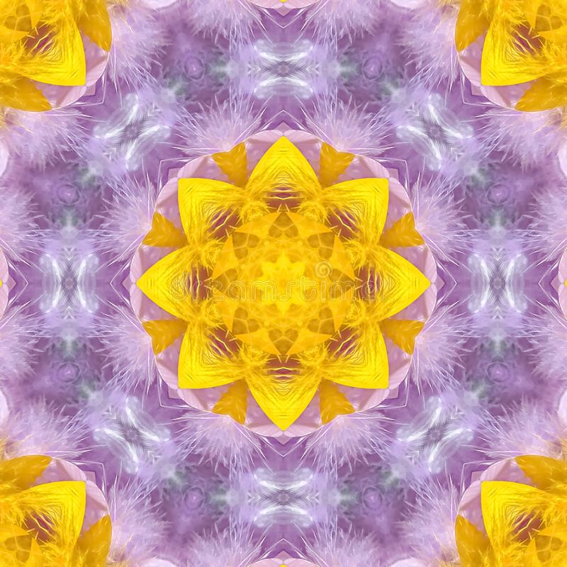 正方形在光谱的充满活力的黄色和紫色颜色 库存例证