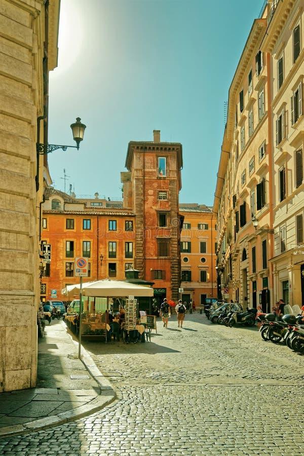 正方形在老城罗马在意大利 库存图片