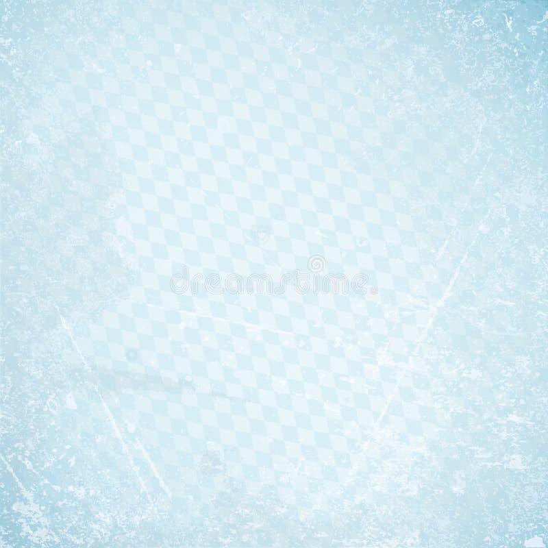 正方形慕尼黑啤酒节减速火箭的纸背景对角金刚石样式蓝色 免版税库存照片