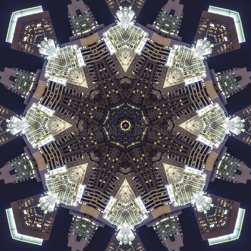 正方形旧金山夜射击设计样式照片 皇族释放例证