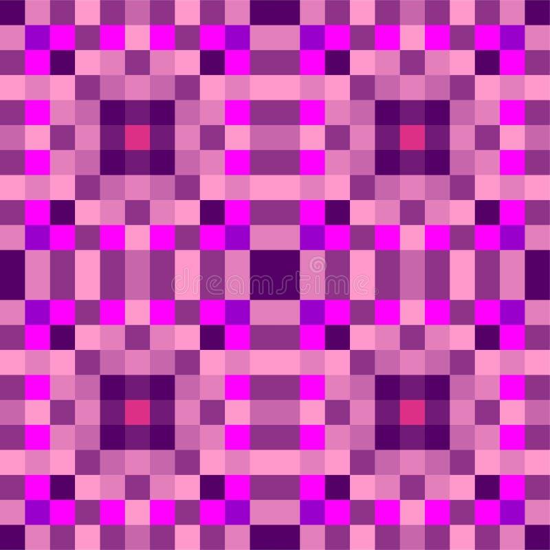 正方形的无缝的几何样式 ?? 向量例证