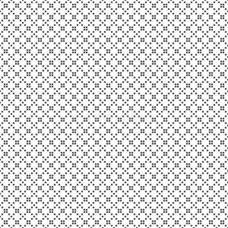 正方形的无缝的样式 几何的背景 皇族释放例证