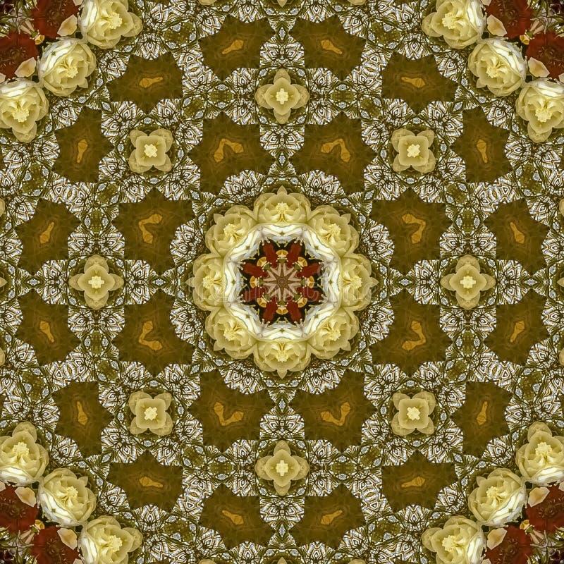 正方形花的摘要领域在圆安排的在婚礼在加利福尼亚 库存图片