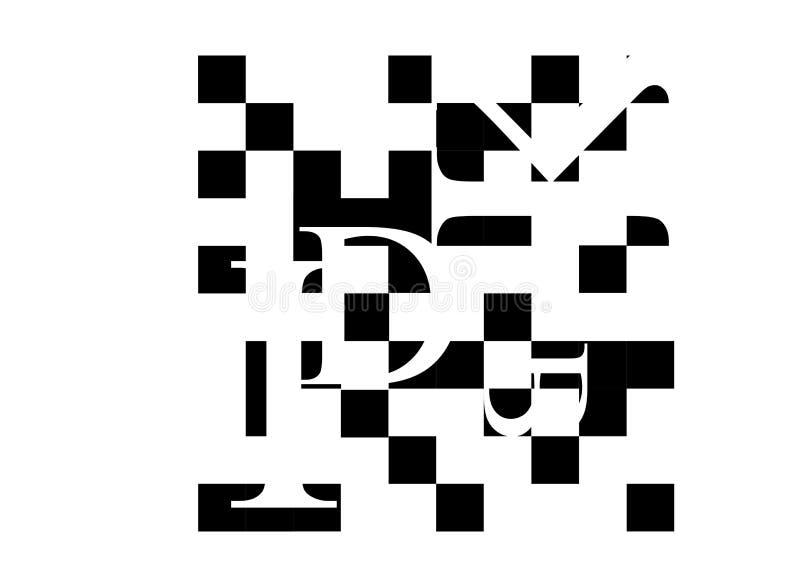 正方形通过每个单位- 6 向量例证