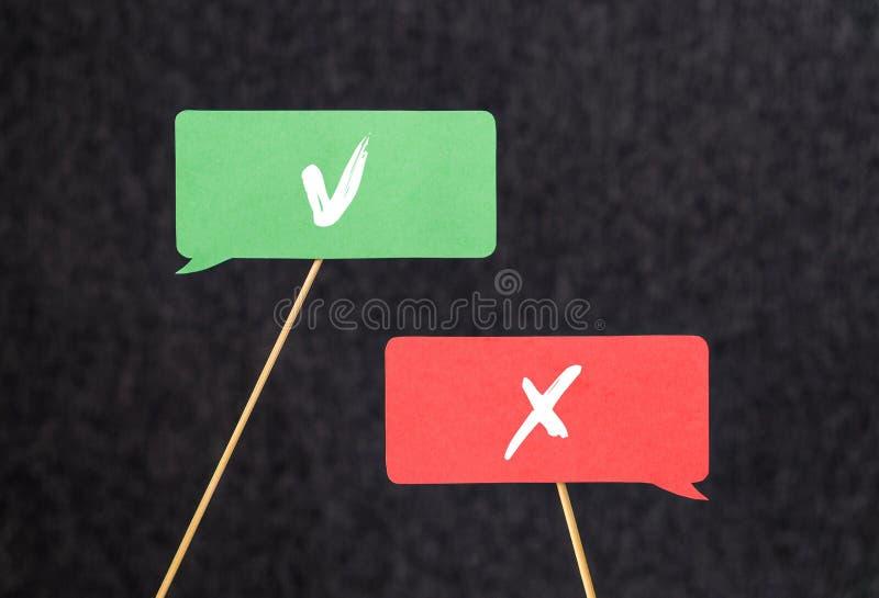 正确的错误 分歧、论据和战斗概念 免版税库存照片