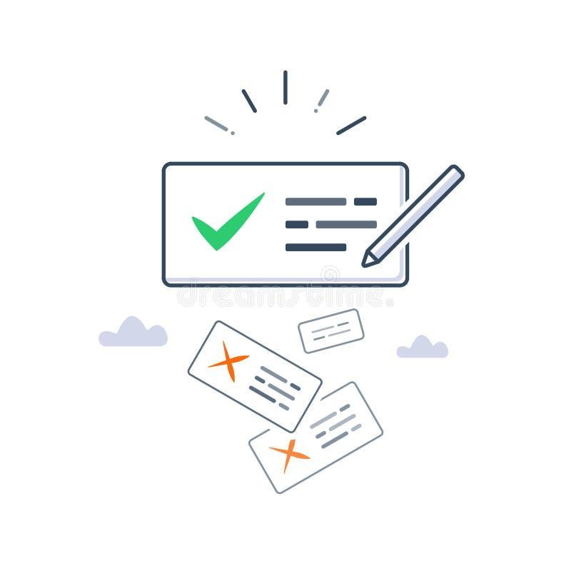 正确语法,写改善,更好的通信,copywriting和讲故事概念, 向量例证