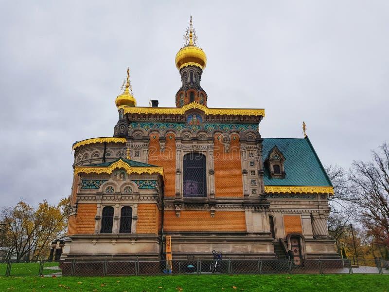 正统东正教会在达姆施塔特 库存图片