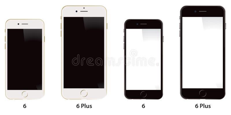 正苹果计算机iPhone 6 皇族释放例证