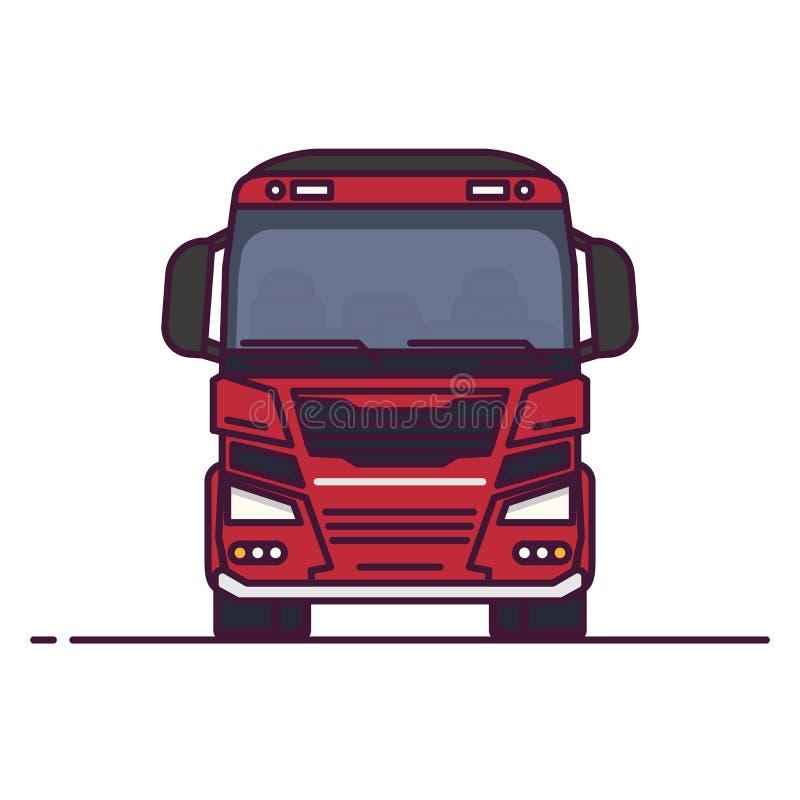 正面图大运输卡车 库存例证
