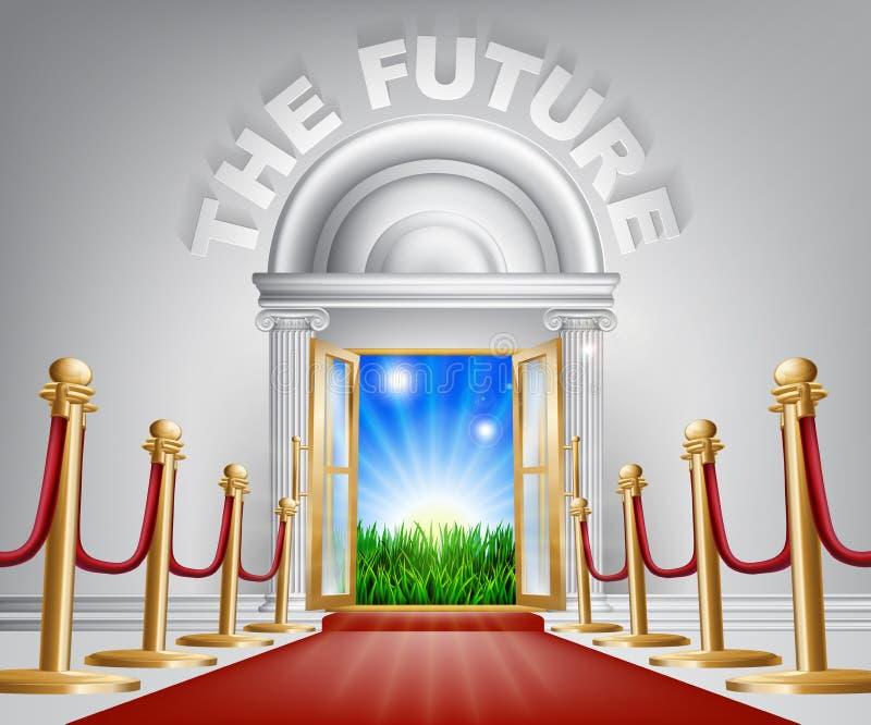 正面未来概念 向量例证