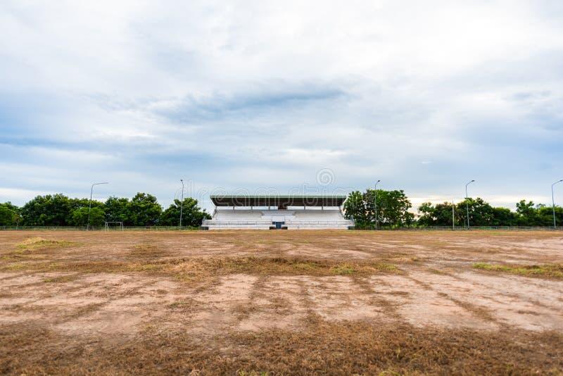 正面看台体育场在乡下 免版税库存照片