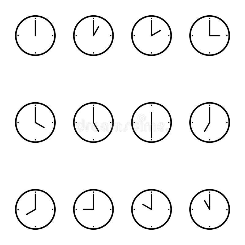 正面简单的手表 库存照片