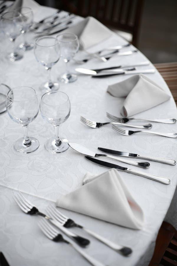 正餐在餐馆 库存图片