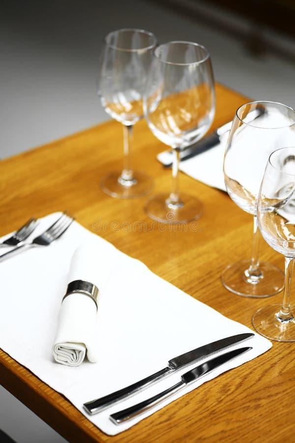 正餐在餐馆 免版税库存照片