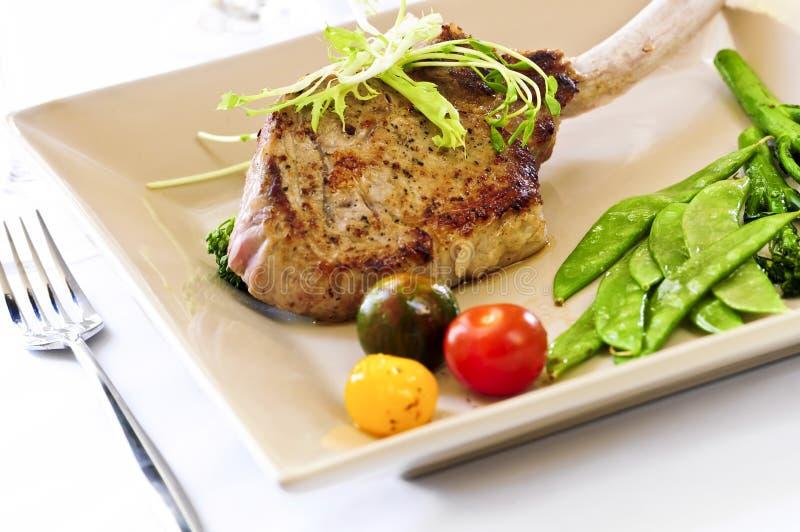 正餐小牛肉 免版税图库摄影