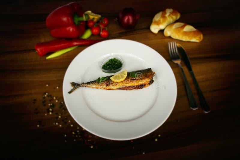 正餐的鱼 免版税库存照片