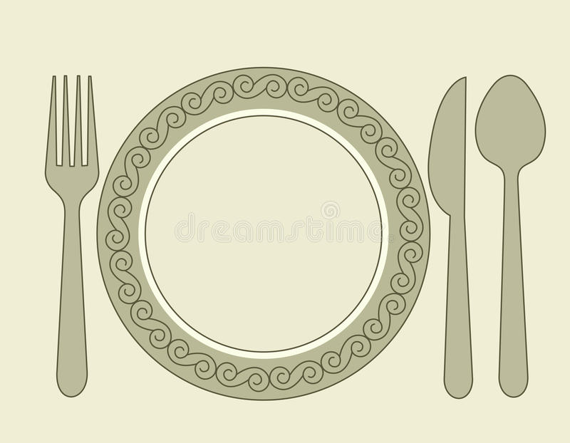 正餐邀请 皇族释放例证