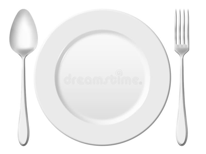 正餐餐位餐具。 库存例证
