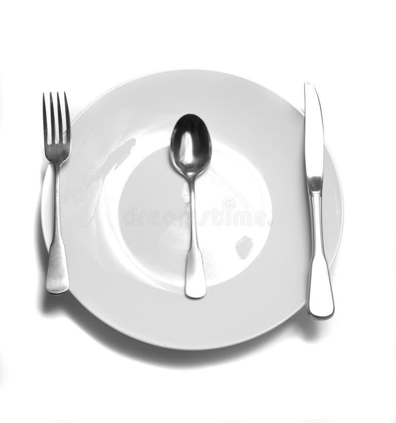 正餐餐位餐具表 库存照片