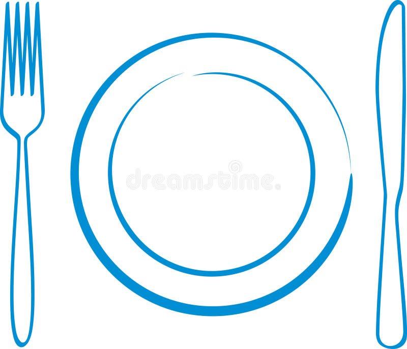 正餐 向量例证