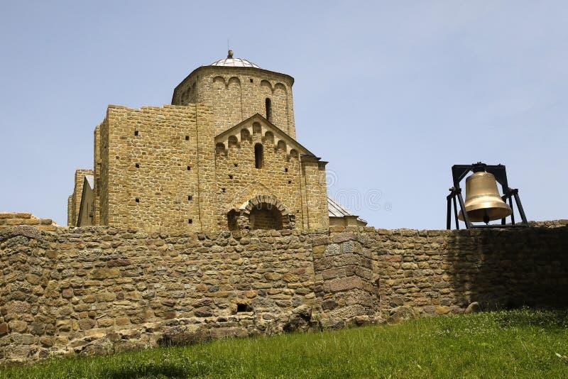 正统修道院Djurdjevi Stupovi在塞尔维亚,联合国科教文组织遗产 免版税库存照片