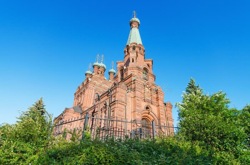 正统的教会 芬兰坦佩雷 库存图片