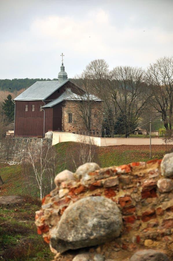 正统Sts 鲍里斯和Gleb Kalozha教会十二世纪 哥罗德诺 迟来的 库存图片