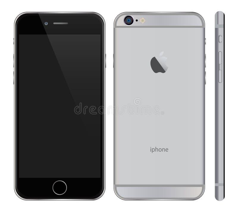 正Iphone 6 向量例证