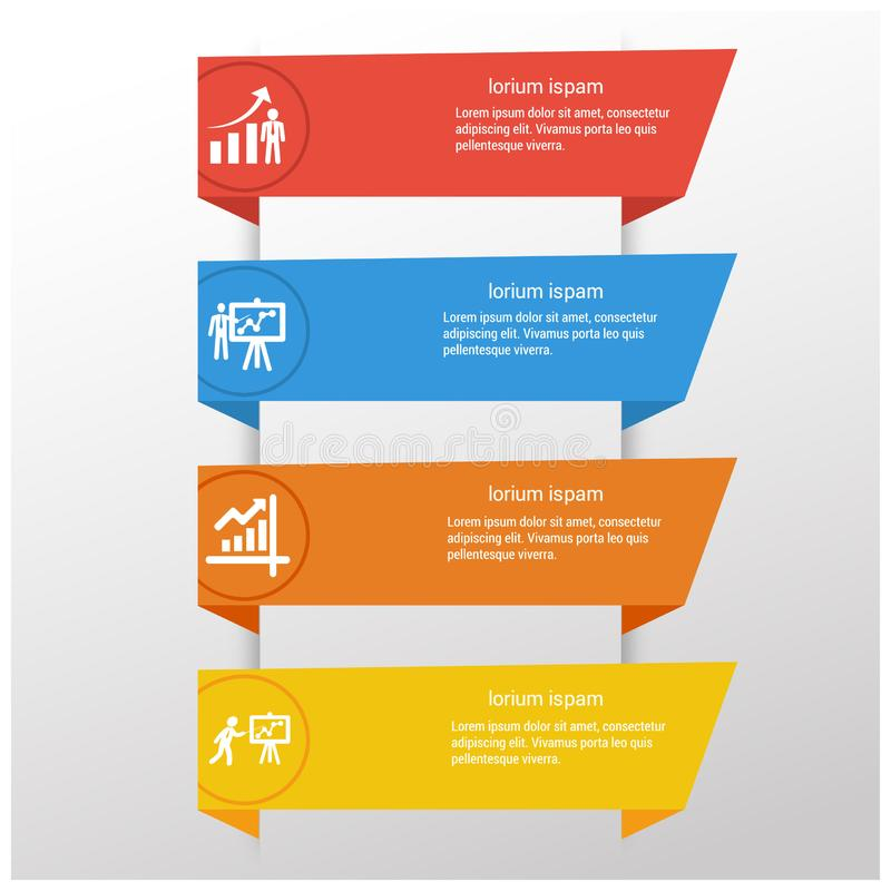 步与独特的设计传染媒介的infographics设计 皇族释放例证