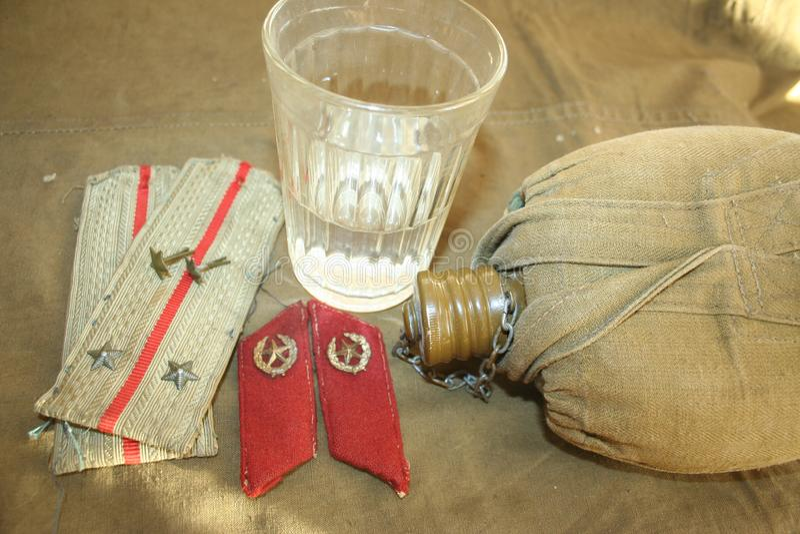步兵陆军中尉被授予了资深陆军中尉等级  库存照片