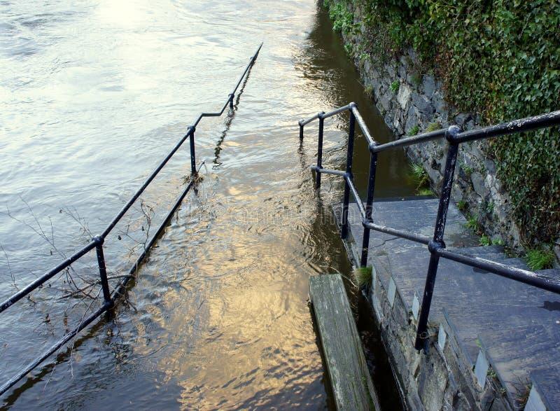 步到洪水里 库存图片