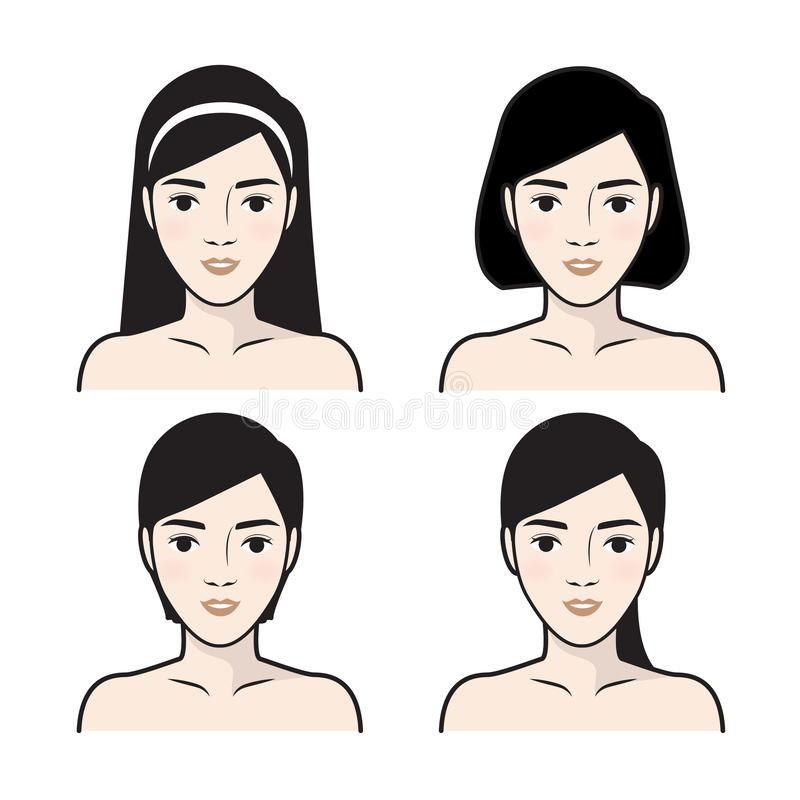 步怎么对面部关心 r 向量例证