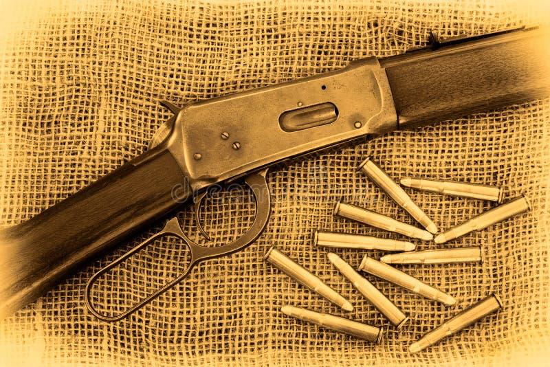 步枪和项目符号 库存图片
