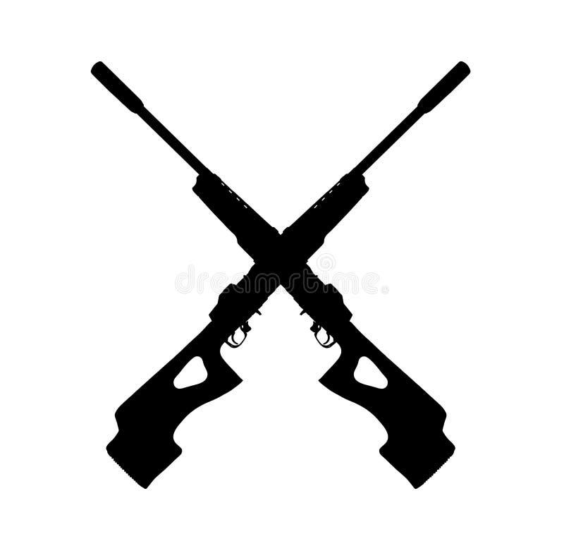 步枪符号 向量例证