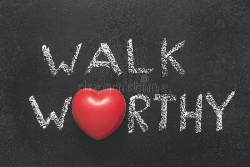 步行值得的心脏 库存图片