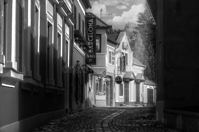 步行在老镇 免版税库存照片