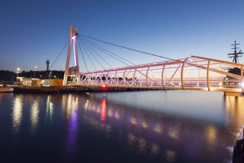 步行桥在乌斯特卡 免版税图库摄影