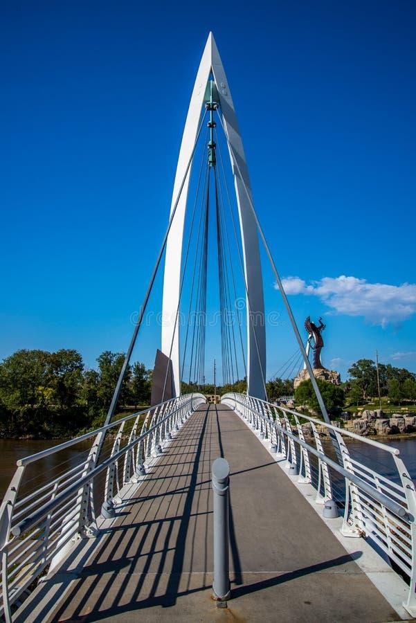 步行桥 免版税库存图片