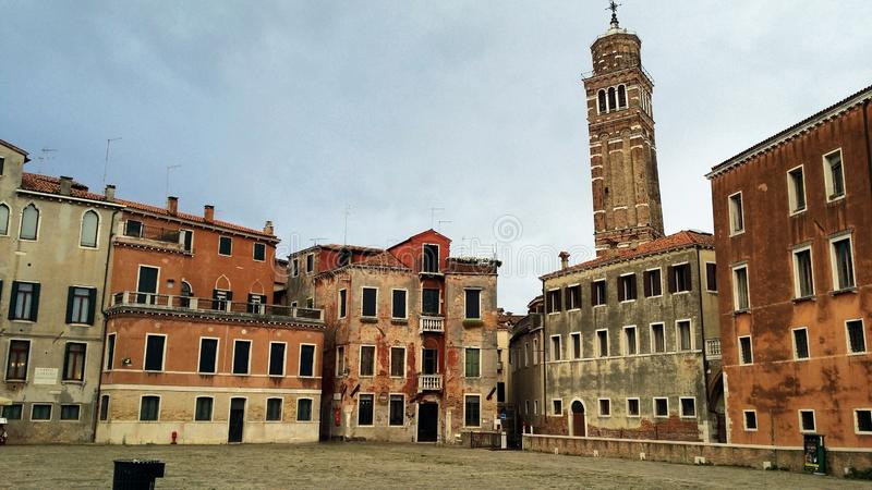 步行的照片在威尼斯 免版税库存图片