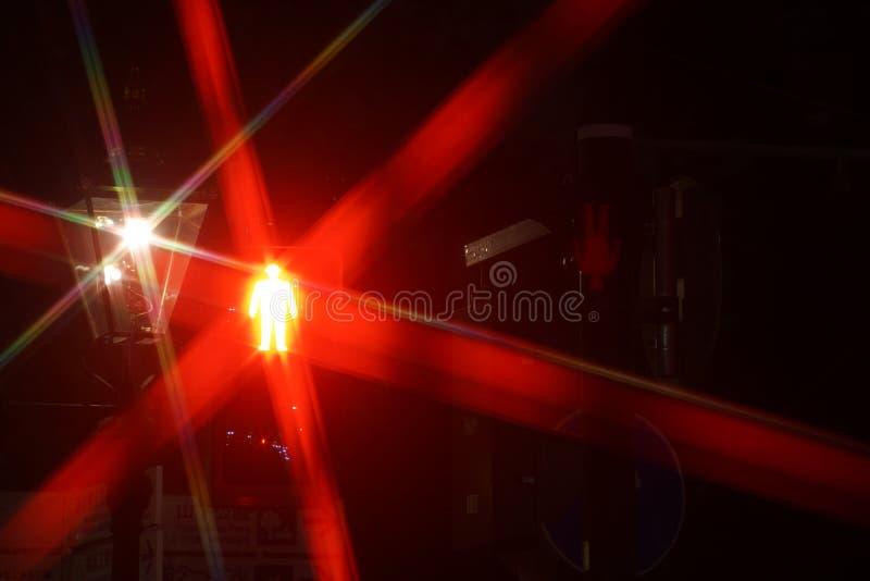 步行红灯图象 库存图片