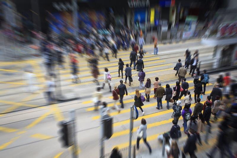 步行者在香港 库存图片