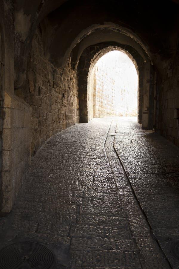 老耶路撒冷隧道 库存图片