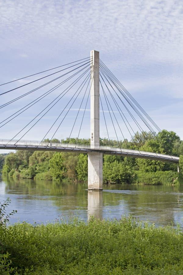 步行者的吊桥 免版税库存图片