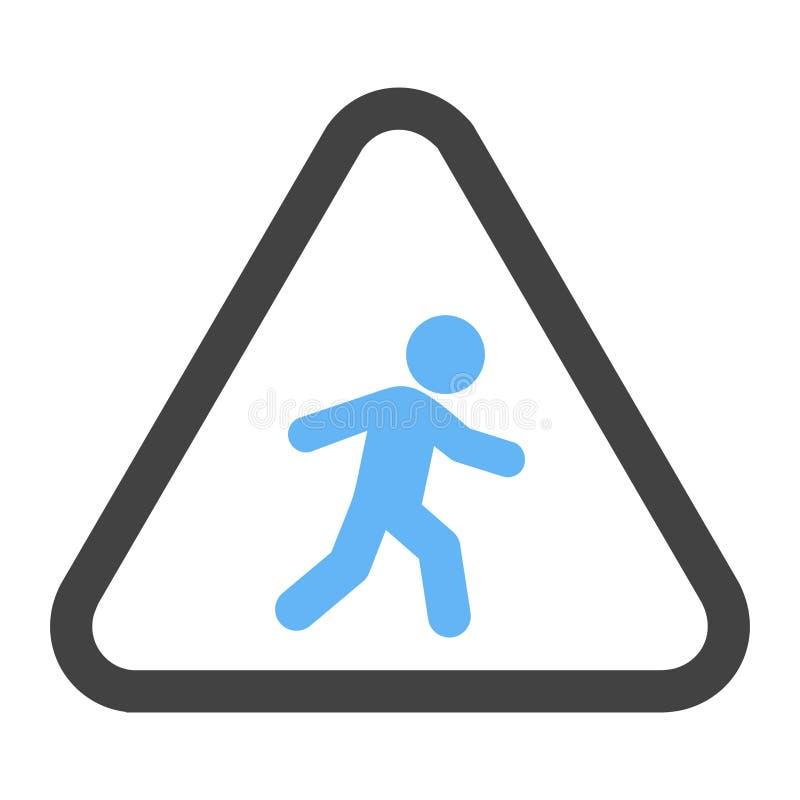 步行者,路,标志 免版税图库摄影