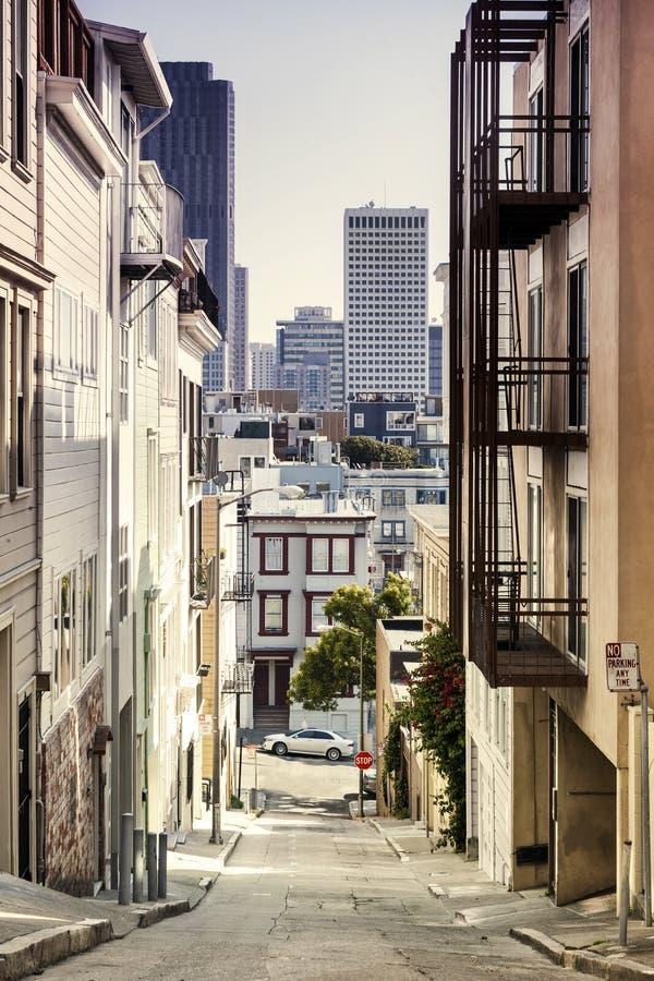 步街道在旧金山 免版税库存图片