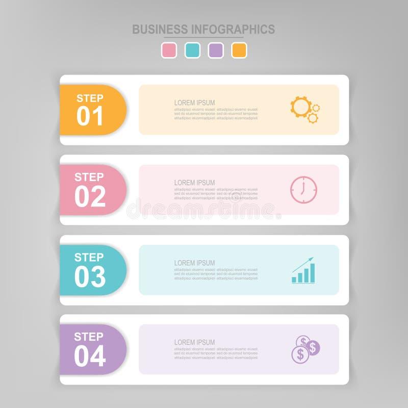 步,企业象传染媒介平的设计Infographic  库存例证